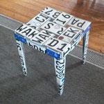 Nummernschild Stuhl