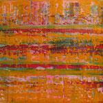 36/13   -  60 x 70 cm  - Gelb -  Öl/Leinwand