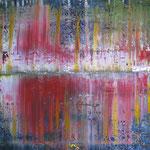 3/13  -  70 x 80 cm  -  Spiegelung 2  -  Öl/Acryl/Leinwand