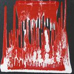 27/13  -  50 x 50 cm  -  Orchester  -  Lack/Öl/Leinwand