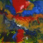 56/13    -   52 x 42 cm   -   o. T.   -   Lack hinter Glas