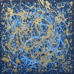 15/15  -  100 x 100cm  -  Orbit  - Lack/Öl/Leinwand