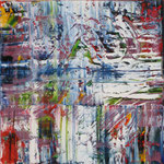 2/13  -  80 x 80 cm  -  Rot-Gelb-Grün-Blau 3  -  Öl/Leinwand