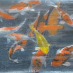 12-16, 100 x 120 cm, Kois, Öl-Leinwand