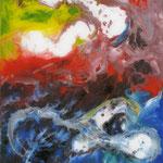 39/13  - 40 x 30 cm -  Abstrakt  -  Glasseite