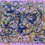 9/15 - 50 x 60 cm - Jackson 4 -  Acryl/Lack/Öl auf Leinwand