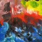 38/13  - 40 x 30 cm -  Abstrakt  -  Lackseite