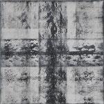 40/12  -  60 x 60 cm  -  Schwarz-Weiß 2  -  Öl/Leinwand