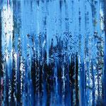 26/12  -  80 x 80 cm  -  Wasserfall  -  Öl/Leinwand