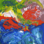 37/13  - 40 x 30 cm -  Abstrakt  -  Glasseite