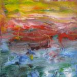 40/13  - 40 x 30 cm -  Abstrakt  -  Glasseite