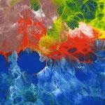 37/13  - 40 x 30 cm -  Abstrakt  -  Lackseite
