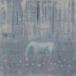 33/12  -  90 x 90 cm  -  Nebelschimmel  -  Öl/Acryl/Leinwand