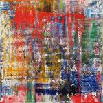 35/12  -  80 x 80 cm  -  Rot-Gelb-Grün-Blau 1  -  Öl/Leinwand