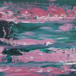 24/12  -  30 x 42,5 cm  -  Pink Sea  -  Öl/Hartfaser