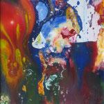 17/13  -  40 x 30 cm  -  Multicolore  -  Lack auf Dibond hinter Glas