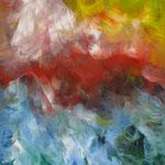 40/13  - 40 x 30 cm -  Abstrakt  -  Lackseite