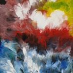 39/13  - 40 x 30 cm -  Abstrakt  -  Lackseite