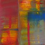 8/12  -  60 x 60 cm  -  Feuer und Wasser  -  Öl/Leinwand