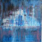 42/13   -  100 x 100 cm  -  Eisberg 2   -  Öl/Leinwand
