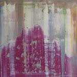 48/13  -  80 x 100  cm -  Violet Mountain  -  Öl/Leinwand