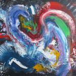 13-16 , 80 x 100 cm,  o.T. , Acryl Leinwand