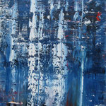 26/13  -  140 x 100 cm  -  Blau  -  Öl/Leinwand