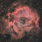 Nébuleuse de la Rosette, Ha 18x10min (Fabien) + couleur 4 x 30x30s (Lionel)