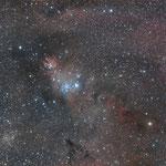 La nébuleuse du Cône et sa région : 24 x 5 min, Canon EOS600D à 800 ISO, Fabien