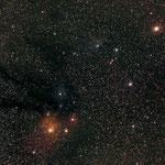 Antarès dans le Scorpion, 23 x 3m30, Canon 1000D, 19 juin, Jean-François
