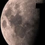 Mosaïque lunaire de 25 images, lunette Equinox 120ED + asi 224, 5 janvier, Jean-Louis