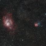M8, la Lagune et M20, Trifide