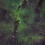 IC1396, la trompe de l'étéphant, SHO, Newton 200, 18 juillet, Fabien