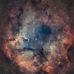 IC1396, la nébuleuse de la trompe de l'éléphant, H (19x600), O (16x600), juin 2017, Nicolas