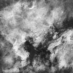 NGC 7000 et IC 5067 en H alpha, lunette WO Z66, 42x5 min, 14 juillet, Nicolas