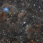 NGC7023, la nébuleuse de l'Iris, lunette Zenithstar 66, 9 août 2016, Nicolas