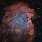NGC2174, la nébuleuse de la tête de singe, SHO, H (4x 20min), O (3x 20min), S (3x 20 min), Julien
