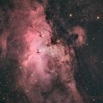 M16, la nébuleuse de l'Aigle, Ha (28x5min), RVB (7x2min), 5 août, Fabien