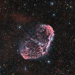 NGC6888, la nébuleuse du Croissant, H (10x1200), S (8x1200), O (8x1200), Newton 200/1000, Julien