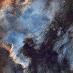 NGC 7000 et IC 5067 en SH0 (24, 42 et 25 x 5 min), lunette Zenithstar 66, CCD G2 8300 24 juillet 2016, Nicolas
