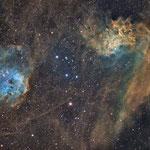IC405 et IC410, SHO (16, 18, 41 x 600s), 1 et 2 novembre 2016, Nicolas