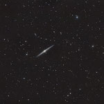 NGC 4565, C14 hyperstar + QHY8L sur EQ8, 18x5min, 14 avril 2015, Lionel