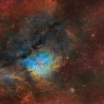 NGC6820, constellation du Petit Renard, SHO total 8h, juillet 2019, Nicolas