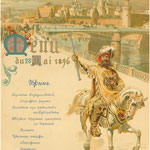 Menü in der Krönungswoche des Zaren Nikolaus II. in Moskau, 1896