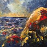 Am MEER, Öl, 50x50cm, 2015