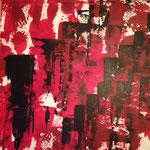 FLUCHT, Acryl, 90x90 cm, 2015