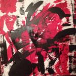 Der nackte Wahnsinn, Acryl, 90 x 90 cm, 2015