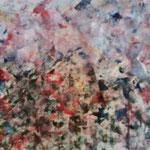 Sommerfarben bei Gewitter, Eitempera, auf Papier, 50x70cm, 2017