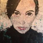 LAURA, 90x60 cm , Acryl , gespachtelt, 2017