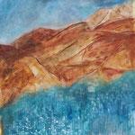Cap Esterelle, Eitempera, 160 x 160cm, 2017